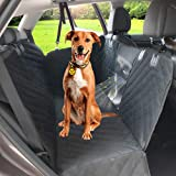 Upgraded Dog Seat Cover for Car with Mesh Window, Waterproof Scratch Proof Nonslip Protector Pet Back Seat Cover Hammock for Cars Trucks SUVs by Angooni