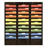 30 Pocket Storage Pocket Chart, Hanging Wall File