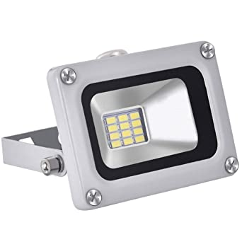 12V Foco LED, 10W 800LM Blanco Frío 6000K Reflector Foco Proyector ...