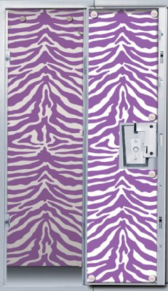 Purple Zebra Locker Wallpaper