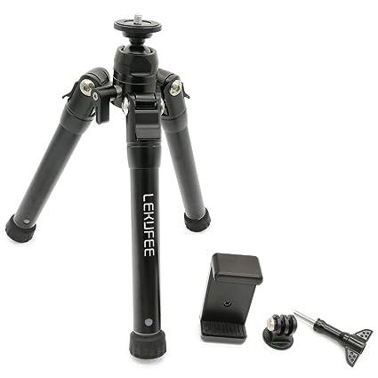 lekufee peso ligero y diseño compacto trípode plegable para cámara ...