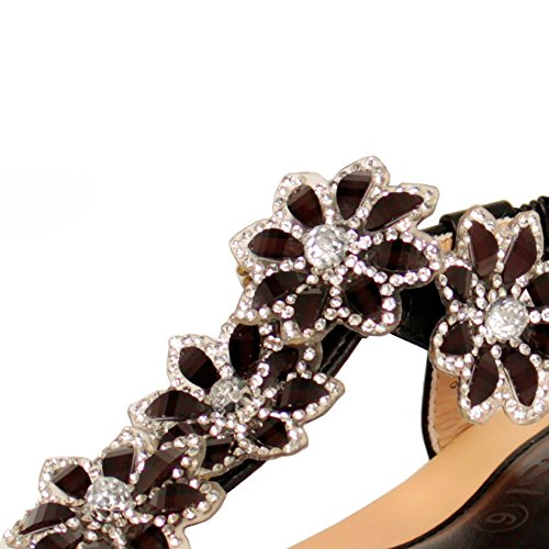 EnvyLondon - Sandalias de vestir para mujer negro