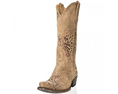e3b87c6ce91 Amazon.com | Old Gringo L168-1 Leopardito Brushed Leather Boots (7 ...