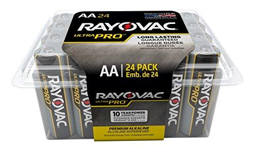 Rayovac Batteries ALAA-24F Ultra Pro AA Alkaline Batteries, AA (Pack of 24) by Rayovac Batteries