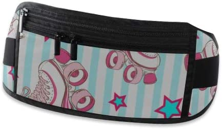 Travel Waist Pack,travel Pocket With Adjustable Belt Pattern Cute Retro Roller Running Lumbar Pack For Travel Outdoor Sports Walking