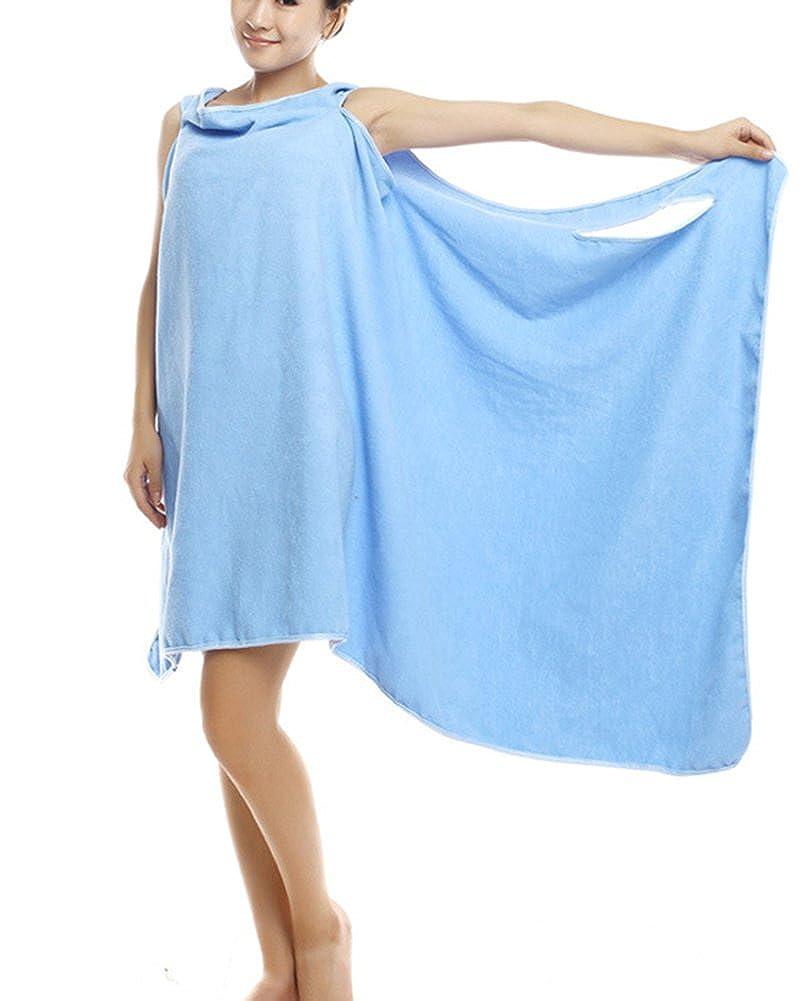 absorbente Seco R/ápidamente Super Suave toalla piscina playa mujer ducha albornoz toalla Wearable Toallas de Ba/ño albornoz toallas microfibra todo en uno