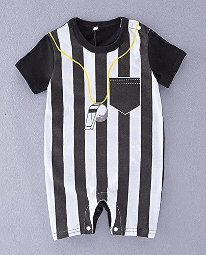 FANCYBABY Baby Toddler Referee Baseball Romper Shirt Outfit