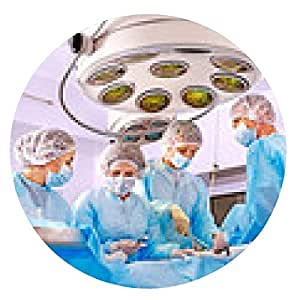 alfombrilla de ratón Cirujano en el trabajo en sala de operaciones. - ronda - 20cm