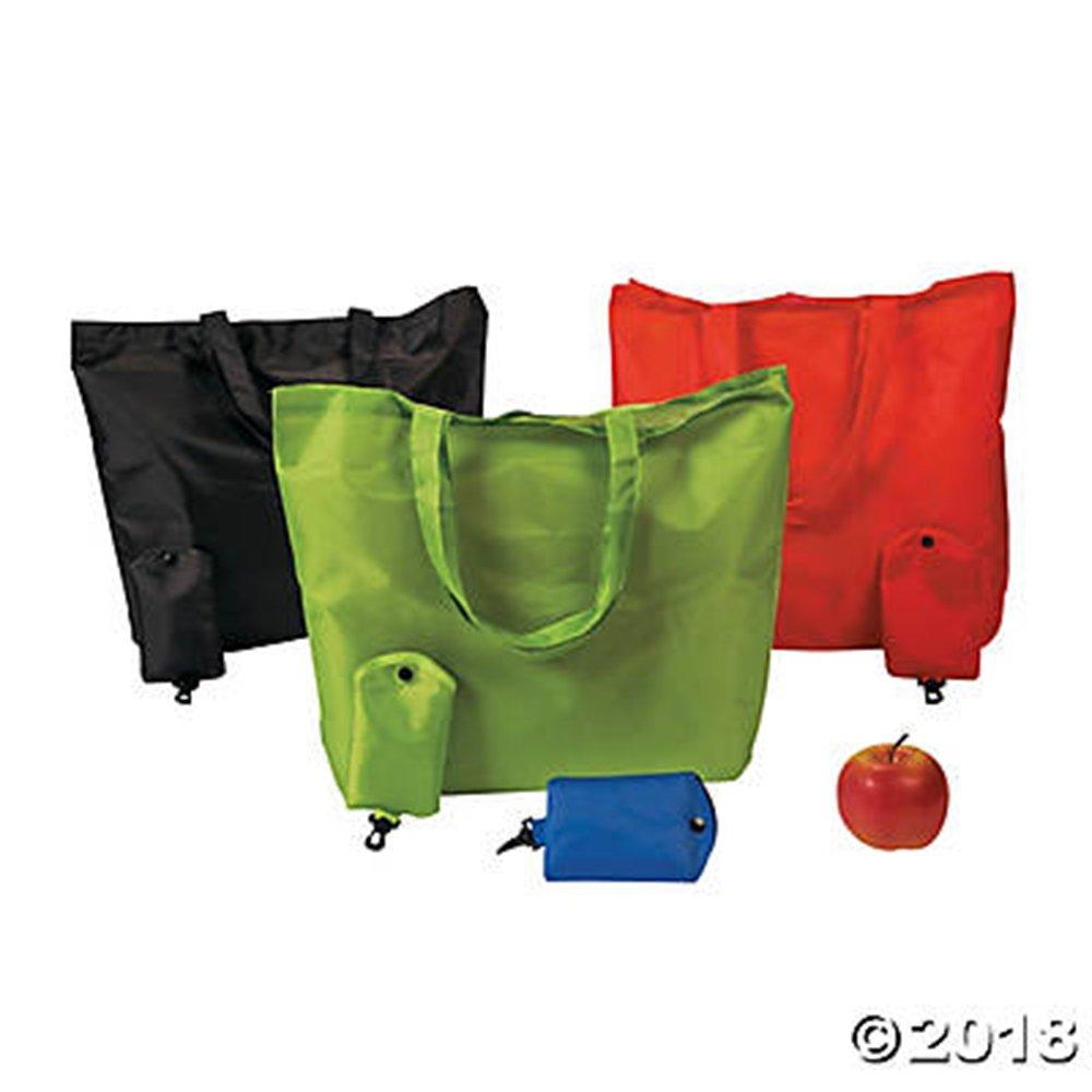 セットof 12 Large Foldaway Grocery Shopping bag Totes in Assorted Colors不織布ポリエステル17.5