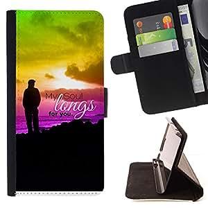 Momo Phone Case / Flip Funda de Cuero Case Cover - BIBLIA Anhela mi alma para usted - Salmo 43: 6; - Samsung Galaxy Core Prime
