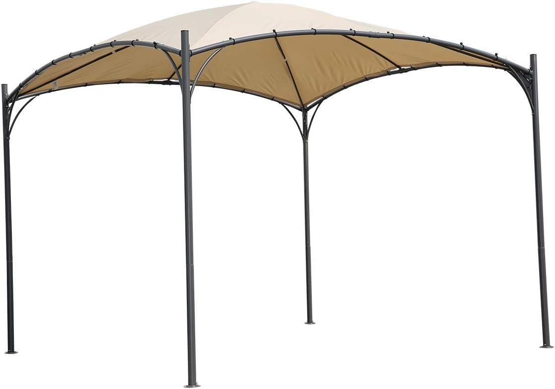 Angel Living 3 x 3 m ARC Canopy Pabell/ón Gazebo de Acero con Techo de Poli/éster de 180g//㎡ para jard/ín Patio Resistente al Agua y UV