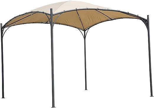 Angel Living 3 x 3 m ARC Canopy Pabellón Gazebo de Acero con Techo ...