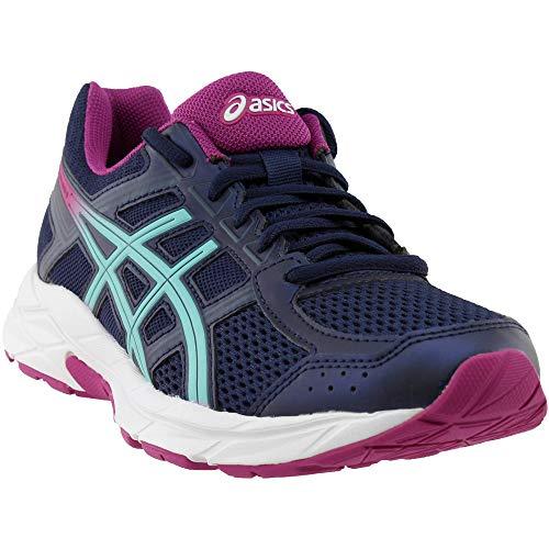ASICS Womens Gel-Contend 4 Running Shoe, Peacoat/Blue/Fuchsia Red, Size 5