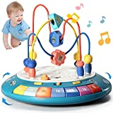 LTKFFFdp Baby Crawling Toys 6 to 12-18 Months Boy Girl Bump and Go Music Light Baby Einstein Toys for 1 Year Old, Development