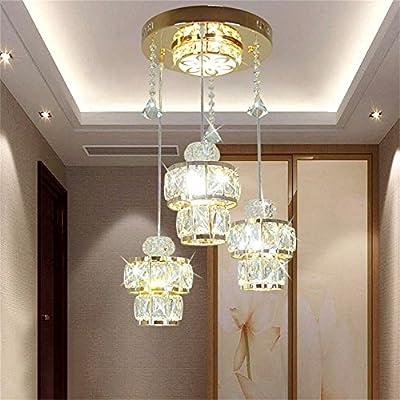 YU-Ligero Casa Lámpara de araña de Cristal LED, luz de Techo ...