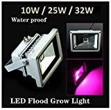 SPL New 25w Blue 554nm Red 660nm Hydroponic Plant Flood LED Grow Lights (25w)
