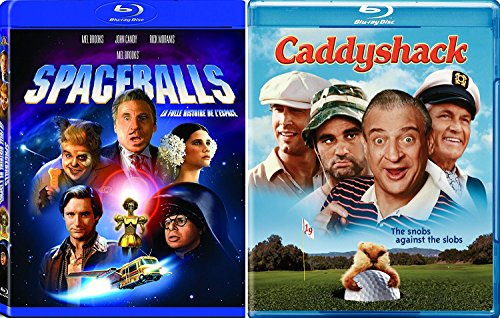 Caddyshack + Spaceballs Blu Ray Mel Comedy Spoof Set double feature bundle