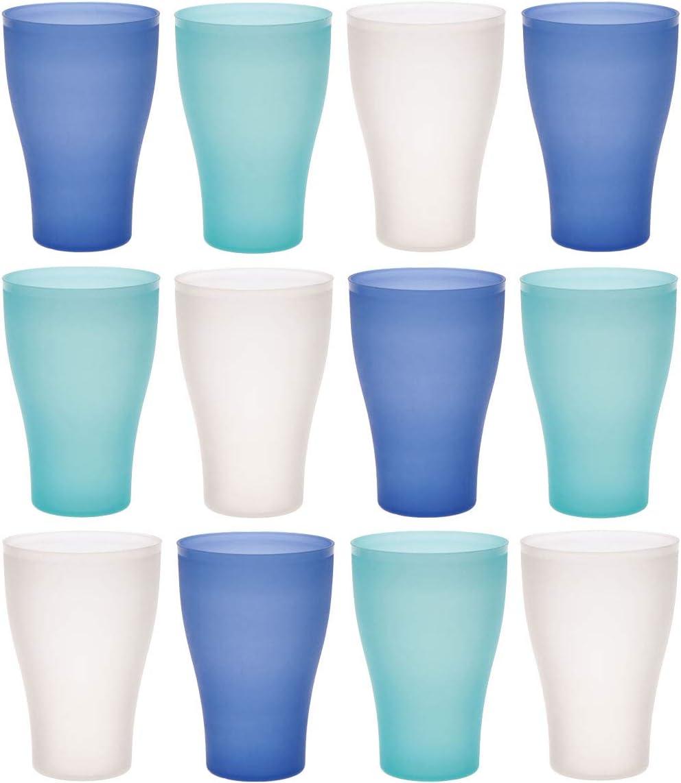 Plastik-Becher bruchsicher Party-Becher 450 ml mehrweg bunt idea-station NEO Kunststoff-Becher 12 St/ück Camping-Geschirr Trink-Becher Kinder Trink-Gl/äser Party-Geschirr