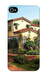 Awesome Case Cover/iphone 5/5s Defender Case Cover(houses Gardens Mansion Shrubs Citiesgraphics ) Gift For Christmas