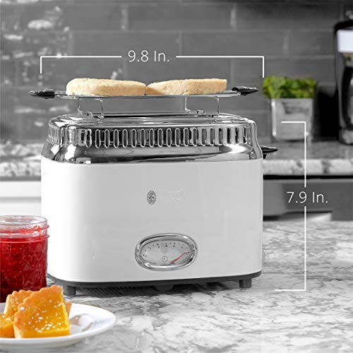 Russell Hobbs TR9150WTR Retro Style Toaster, 2-Slice, White by Russell Hobbs (Image #6)