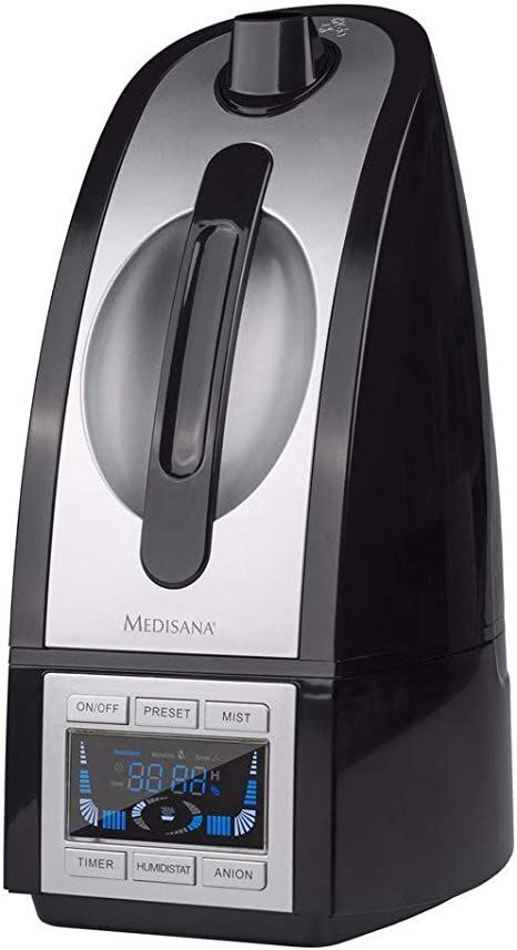 Medisana PR-H90 Ultrasónica 4.5L Negro, Plata - Humidificador ...