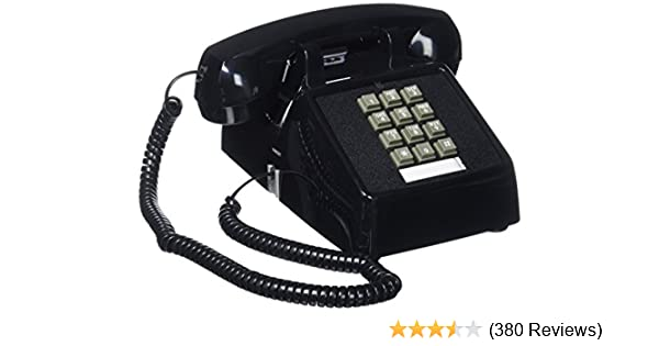amazon com : cortelco (itt-2500-md-bk) single line desk telephone : corded  telephones : electronics