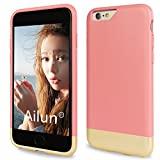 iPhone 6S Case,iPhone 6 Case,by Ailun[Vigorous Series]Protective SOFT-Inner Anti-Scratch Aesthetical Finished Base with Vibrant Trendy Color Slider Style Hard Case-Siania Retail Package[Rose]