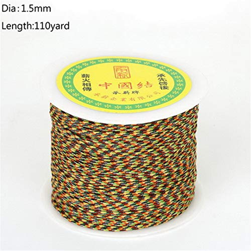 0.4/1.5/2/3/4Mm 25-140Yards/Roll Chinese Knot Cords Sewing Apparel Sewing Fabric For Jewelry Making DIY Jewelry Findings 1point5mm 110yard (Yard 110 Yarn)