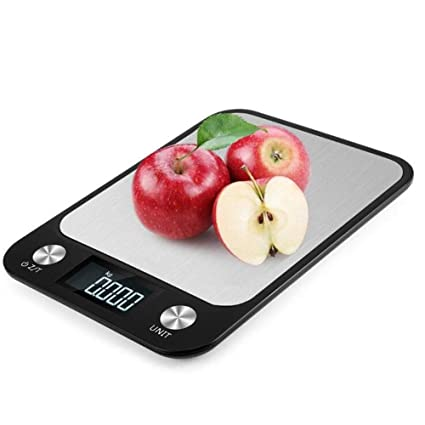 Cucsaist Balanzas De Cocina - Balanza Electrónica Digital De 22 Libras / 10Kg Mini - Balanza