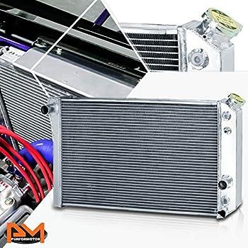 """3-ROW ALUMINUM RADIATOR+2X 9/"""" FAN RED FOR 82-02 CHEVY S10//BLAZER//CORVETTE V8"""