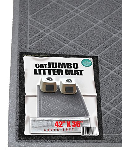 iPrimio - Cat Litter Mat with Plaid Design - Phthalate & BPP Free - Jumbo (42