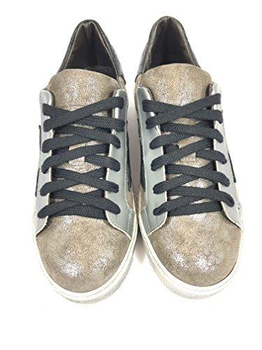 Sneakers Divino Follie Basse (36, Beige / Nero)