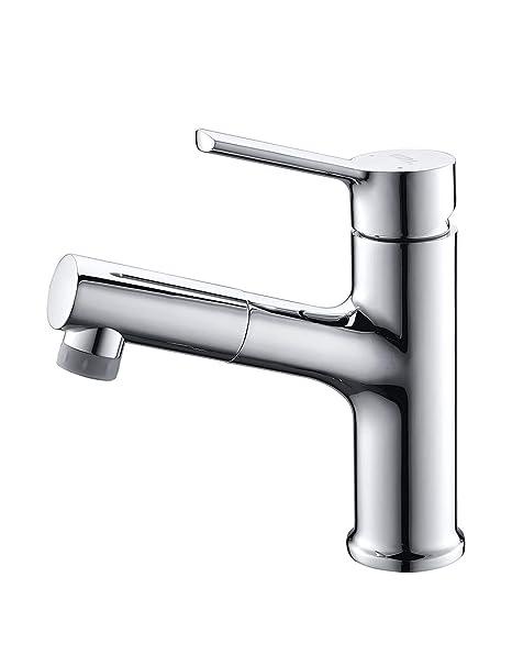 Amazon Marke: Umi. Essentials Armatur Bad 2 Strahlarten Wasserhahn mit ausziehbarem Brause Waschbecken Mischbatterie Waschbec