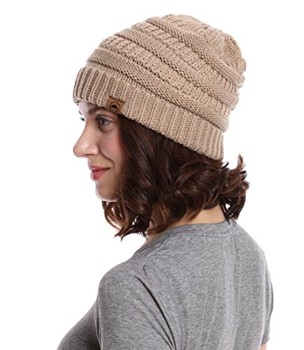 Cable Knit Beanie by Tough Headwear - Thick, Soft & Warm Chunky Beanie Hats for Women & Men - Serious Beanies for Serious - Fall Style Mens