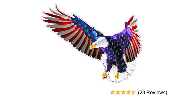 Amazon Com Nostalgia Decals Flying American Flag Eagle Decal Large