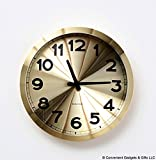 Present Time Karlsson Aluminum Station Wall Clock, Gold