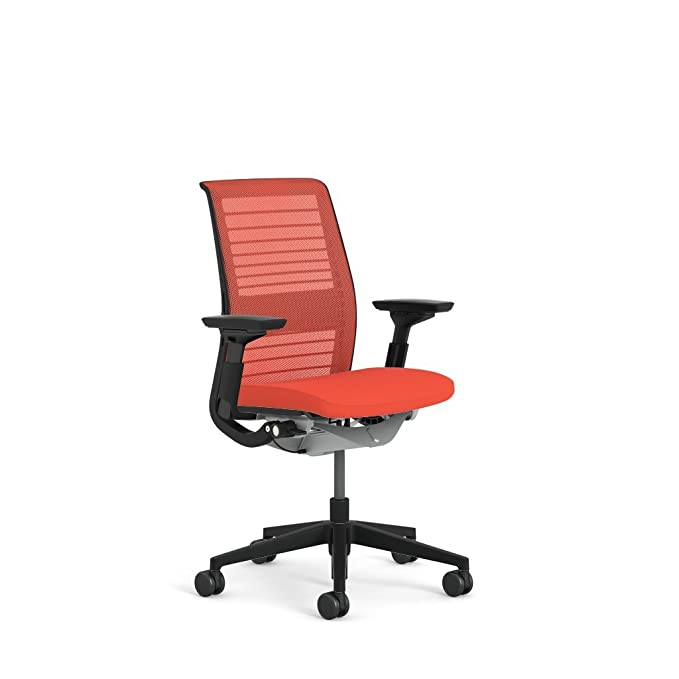 Amazon.com: Steelcase Think 3D Mesh Fabric Chair, Scarlet: Kitchen & Dining