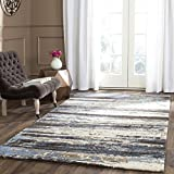 Safavieh Retro Collection RET2138-1165 Modern Abstract Cream and Blue Area Rug (6' x 9')