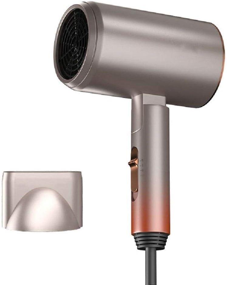 Secador de pelo, plegable y portátil, cuidado del cabello a temperatura constante, 3 velocidades, libremente ajustable, con colector de aire-dorado