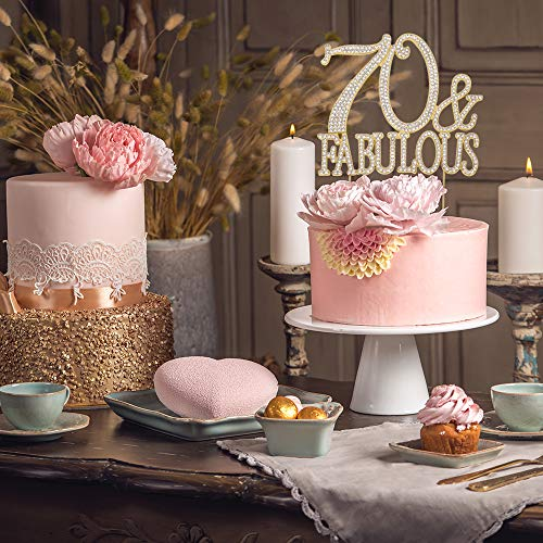 Amazon 70 And Fabulous GOLD Cake Topper