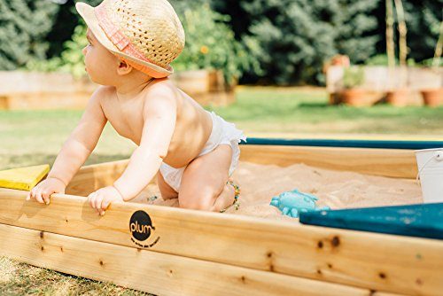 Plum Store-it Wooden Sand Box with Storage Bench and Seating by Plum (Image #3)