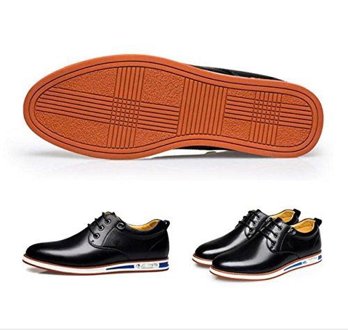 Décontractées Et Black GRRONG Sport Hommes Chaussures Imperméable Jeunesse De De Chaussures Confortable Chaussures Antidérapante qww6AE4