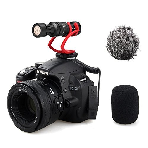 Comica CVM-VM10II Full Metal Compact On Camera Cardioid Directional Mini Shotgun Video Microphone for Smartphone iPhone,HuaWei,DJI Osmo,SonyA9/A7RII/A7RSII,GH4/ GH5, and DSLR Camera(Red) by Comica