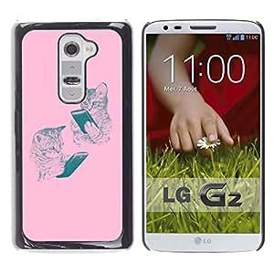 Be Good Phone Accessory // Dura Cáscara cubierta Protectora Caso Carcasa Funda de Protección para LG G2 D800 D802 D802TA D803 VS980 LS980 // tiger animal roar yawn ferocious tongue