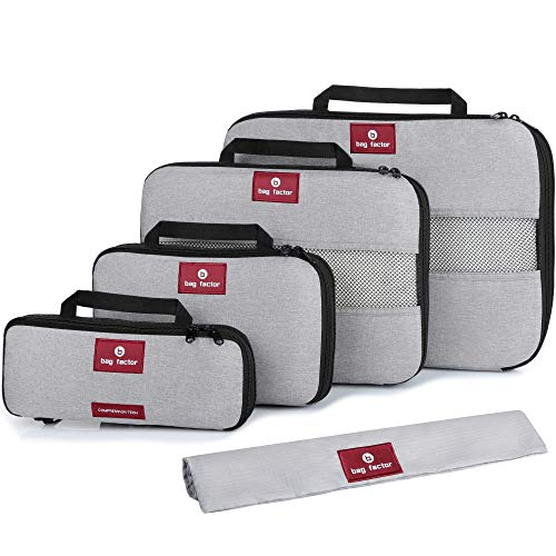 (Compression Packing Cubes for Travel - Smart Modern Design Luggage Organizer)