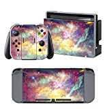 GALAXY Nintendo Switch Controller Cover Skin Set for Console Dock Joy Con Vinyl Decal Sticker Protector -Nebula Lilac by BR For Sale