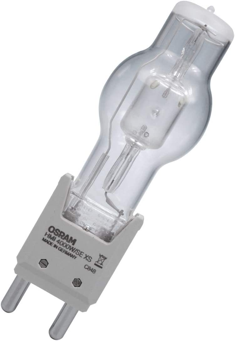 OSRAM HMI 4000W //SE//XS G38 Mogul Bipost base metal halide light bulb
