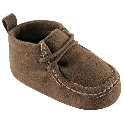 Luvable Friends Boy's Faux Suede Boot (Infant), Brown, 6-12 Months M US Infant]()