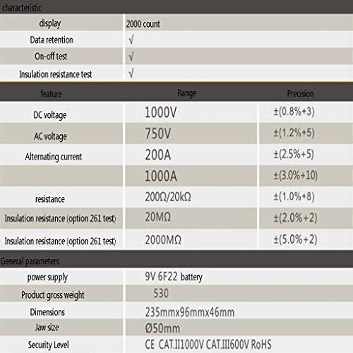 ZUQIEE Multimeter, M266 digital clamp current exchange meter 2000 count electrician multimeter