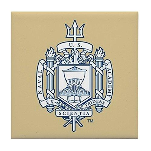 CafePress - U.S. Naval Academy Crest - Tile Coaster, Drink Coaster, Small Trivet
